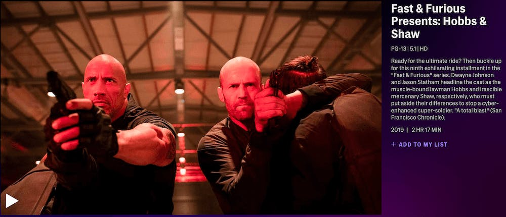 hbomax review - hobbs and shaw