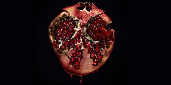 midnight sun cover, dripping pomegranate