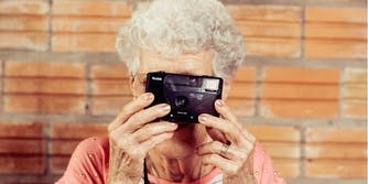 grandma taking a picture