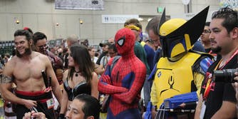 picture of people at a comic-con