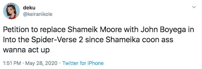 shameik moore tweet