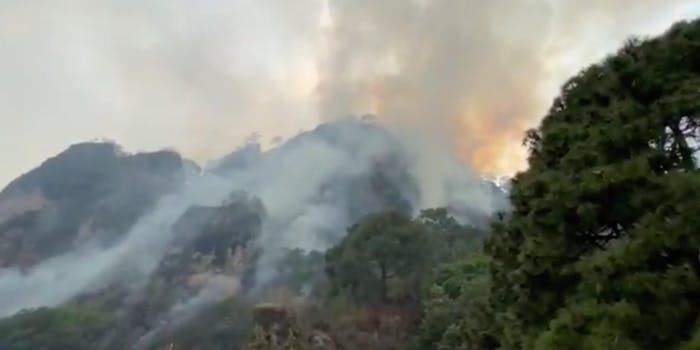 fire in tepotzlan caused by woman filming tiktok