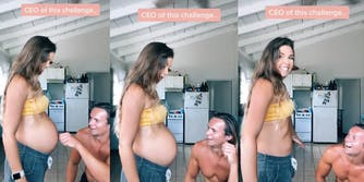 tiktok of mom making her baby 'disappear'
