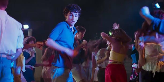 timothee chalamet dancing