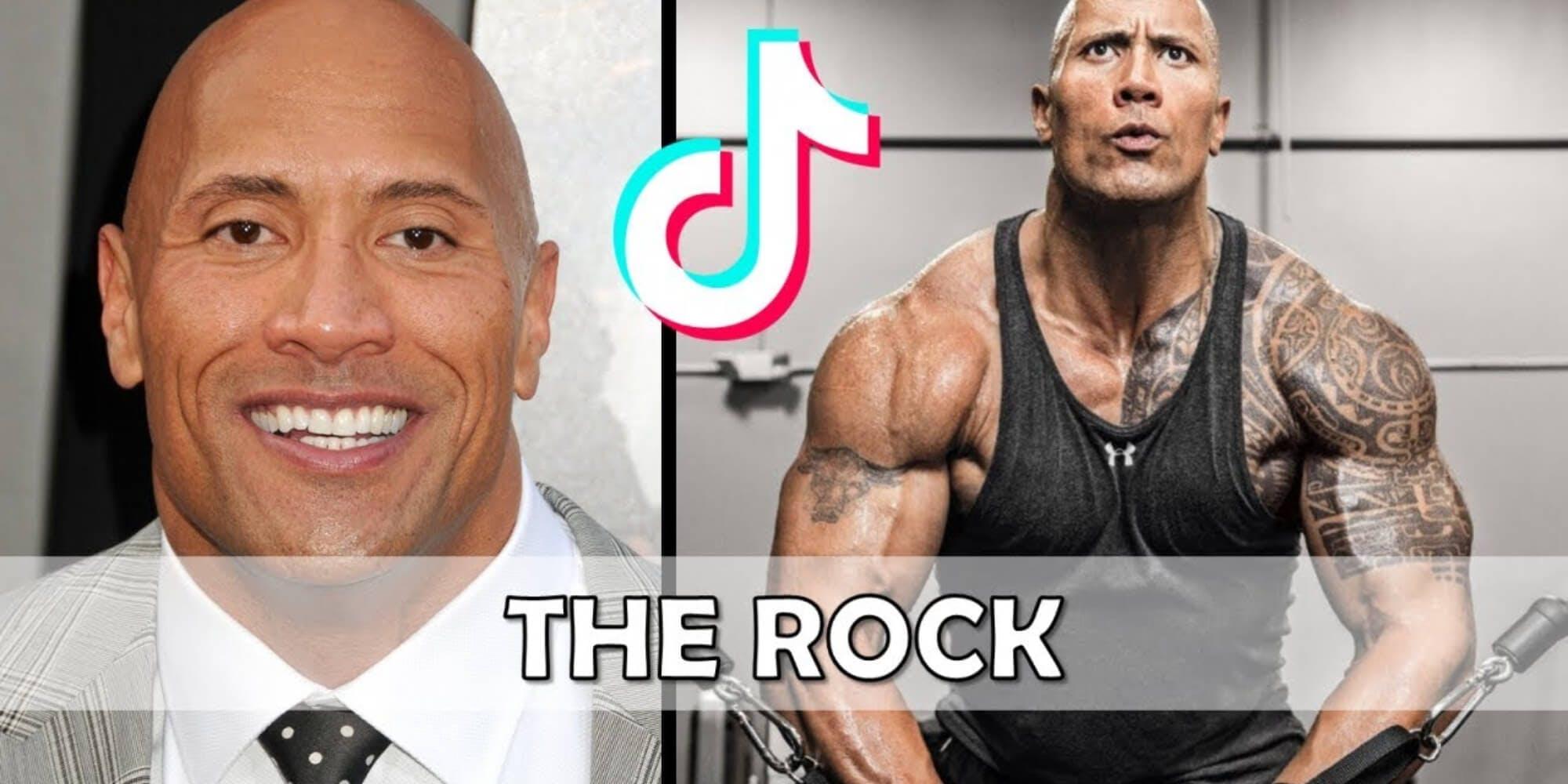 top tiktok stars dwayne the rock johnson