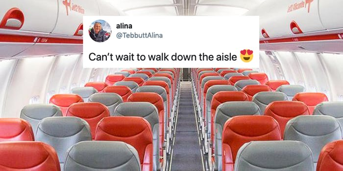 walk down the aisle meme