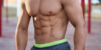 muscular man with shirt off