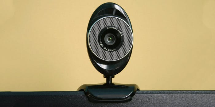 A webcam on top of a laptop