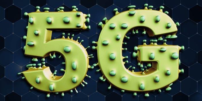 5G with coronavirus nodules