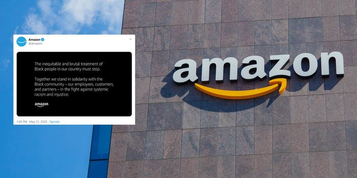 Amazon Protests Statement Twitter