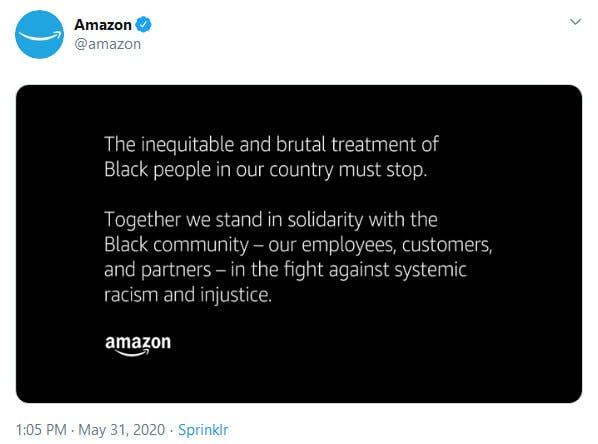 Amazon Protests Statement
