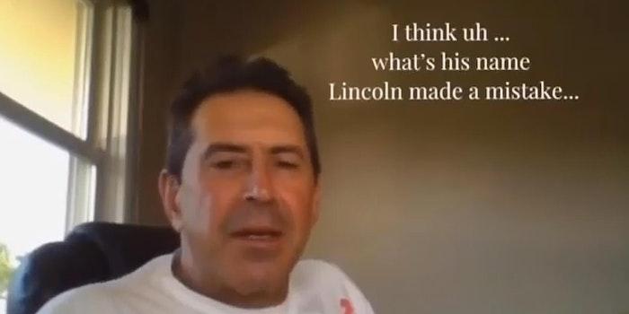 "Boris Vaksman thinks ""Lincoln made a mistake"""