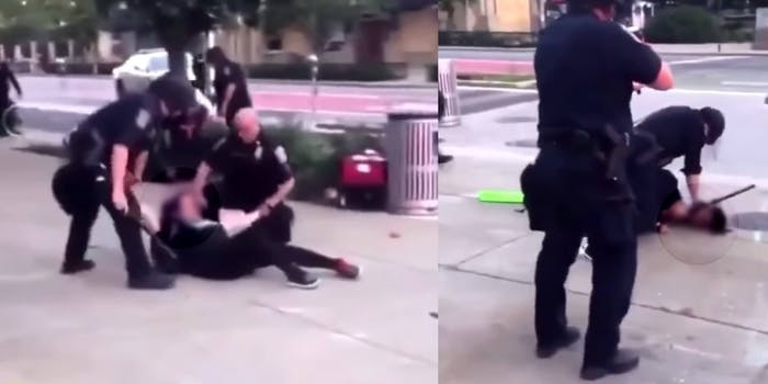 Screenshots show Indianapolis Police assaulting two women