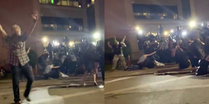 Screenshots show chaos after a group carrying Howell's injured body was shot at by police