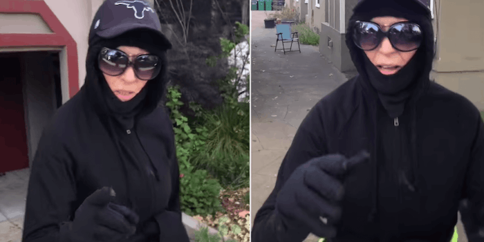 A white woman reportedly showed a Black man the finger and asked him to go 'back to Oakland'