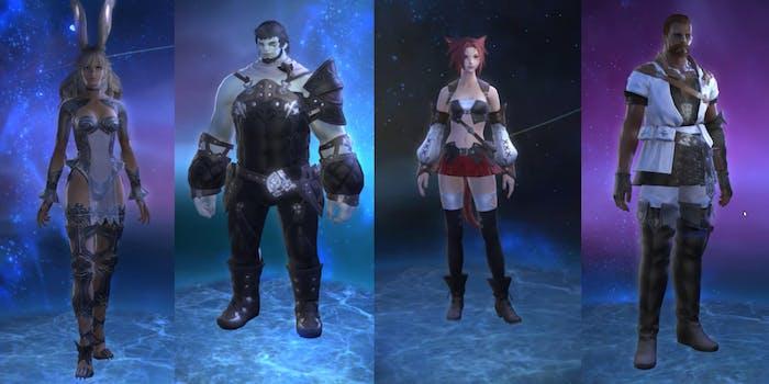 Final Fantasy XIV races - main