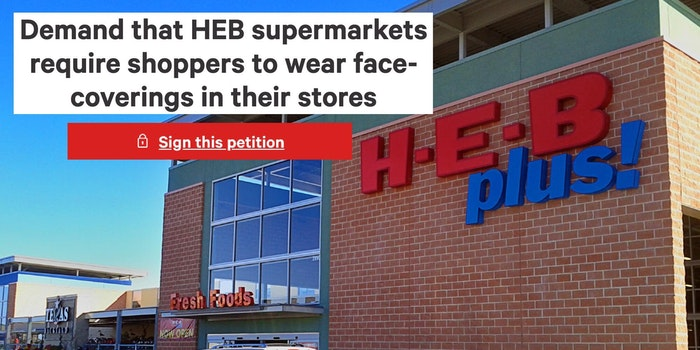 An HEB grocery store in Texas