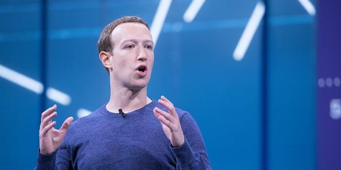 Mark Zuckerberg Facebook Donald Trump Posts Employees Call