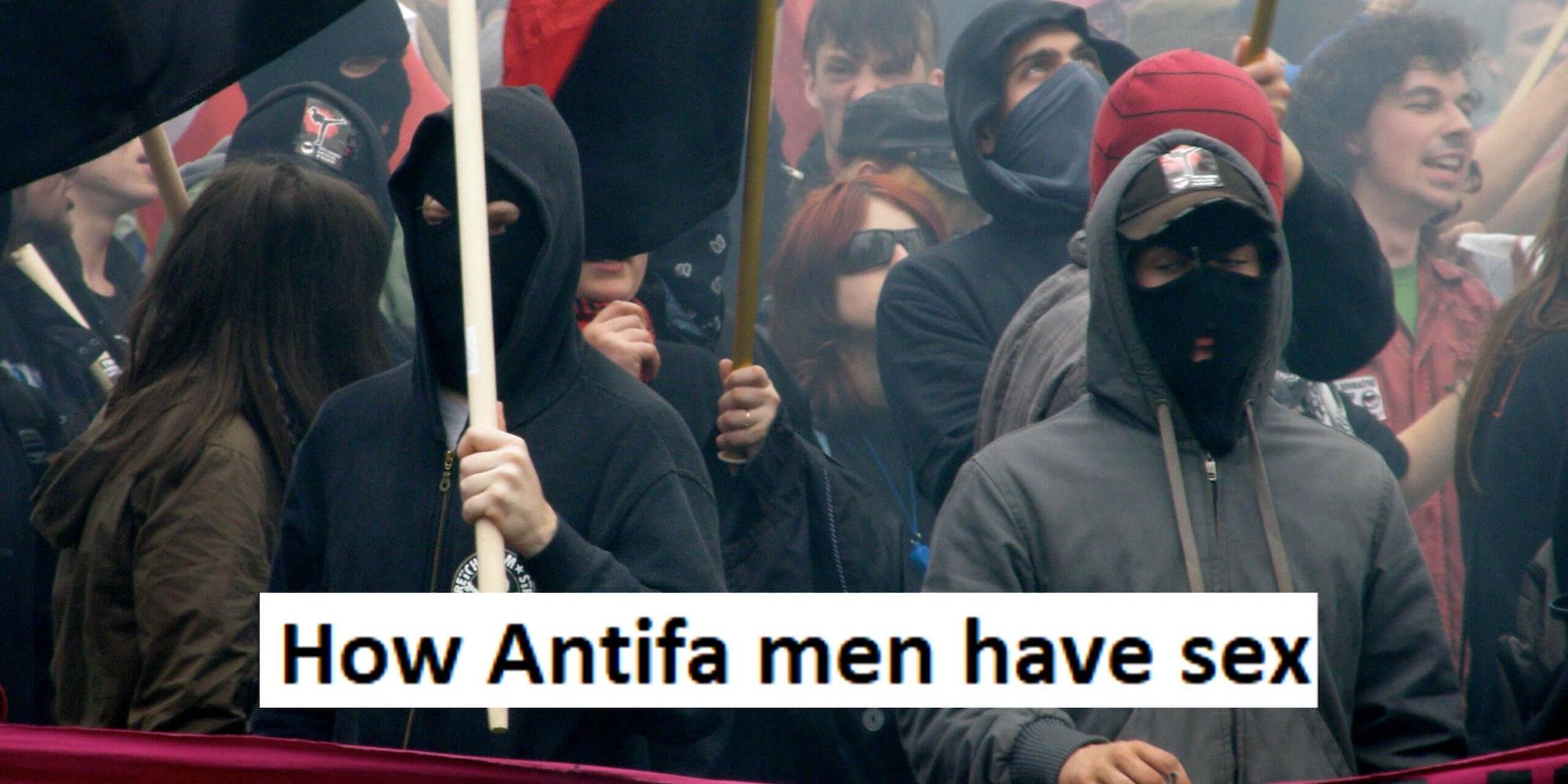 Pegging antifa men MAGA Trump