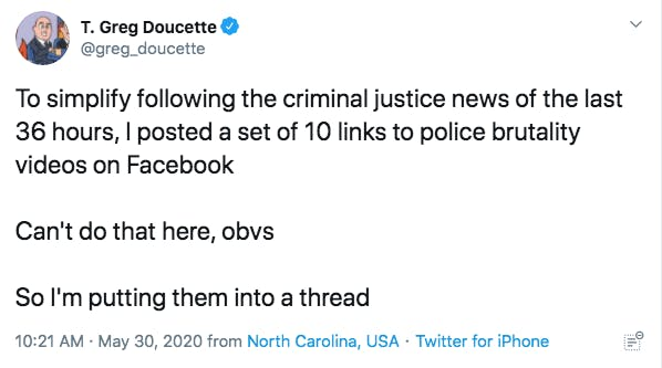 police brutality thread