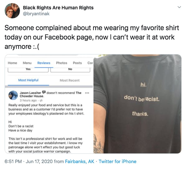 don't be racist shirt review