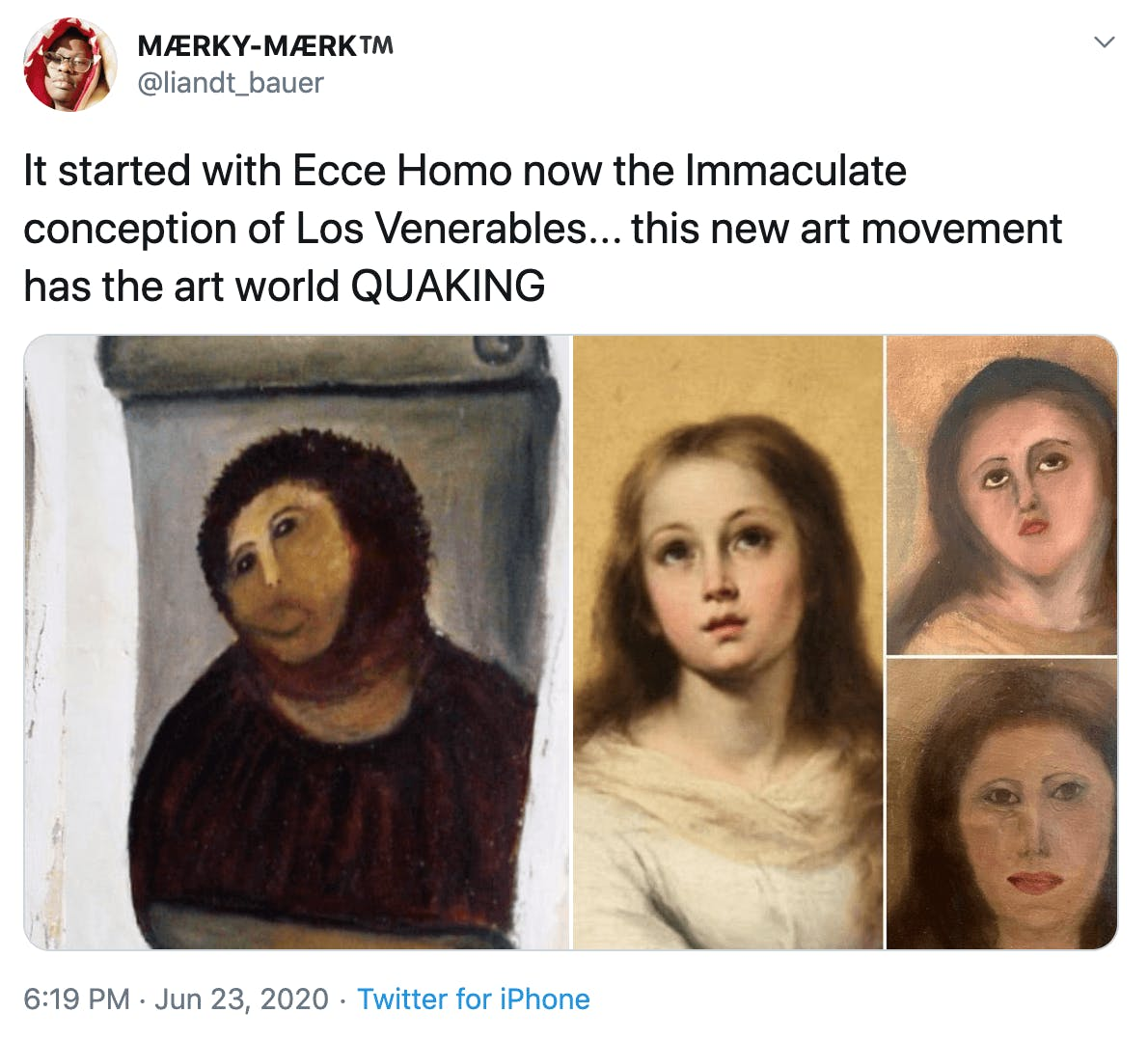 It started with Ecce Homo now the Immaculate conception of Los Venerables... this new art movement has the art world QUAKING