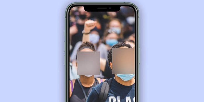 Signal app blur faces tool
