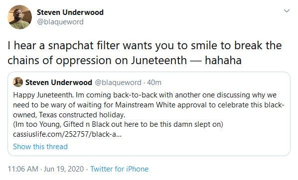 Snapchat Juneteenth Filter