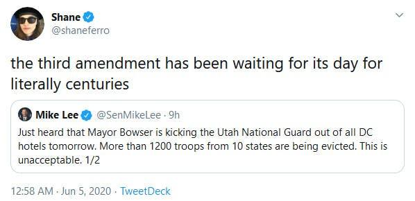 Third Amendment Trending Tweets