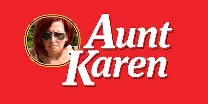 """aunt karen"" Aunt Jemima parody"