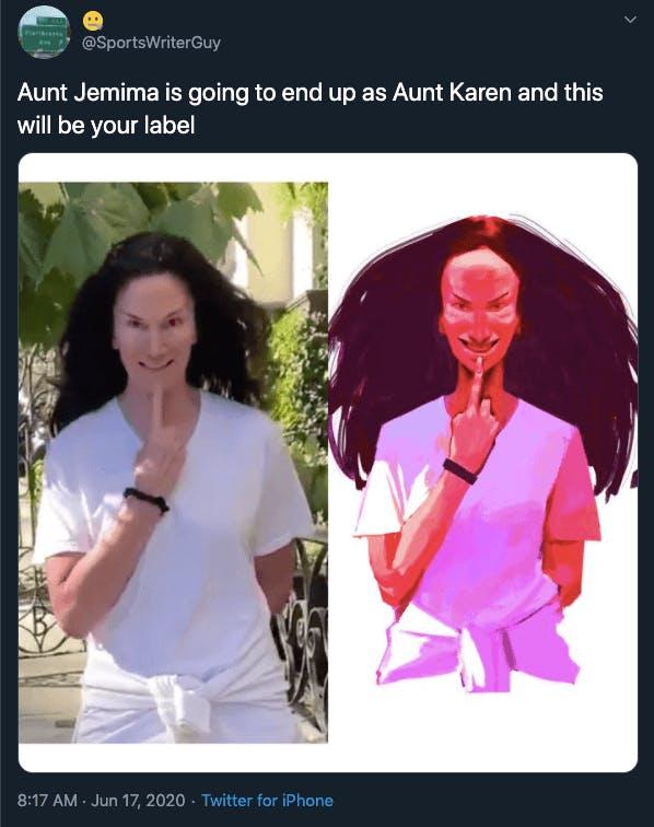 Aunt Jemima Karen Twitter