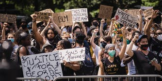 People protesting for black lives matter