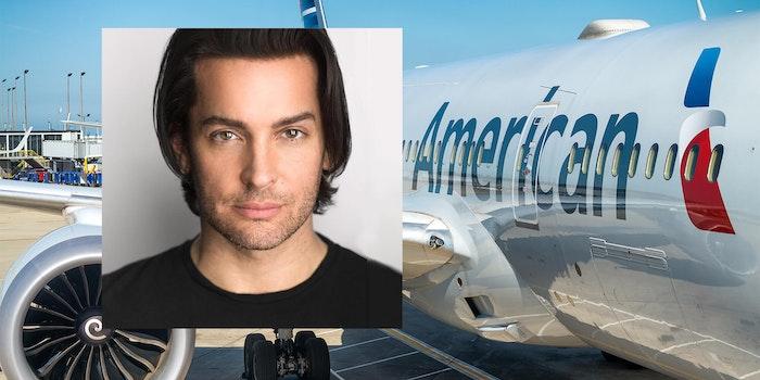 Brandon Straka and American Airlines airplane