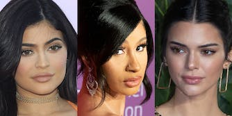 cardi b, kylie and kendall jenner