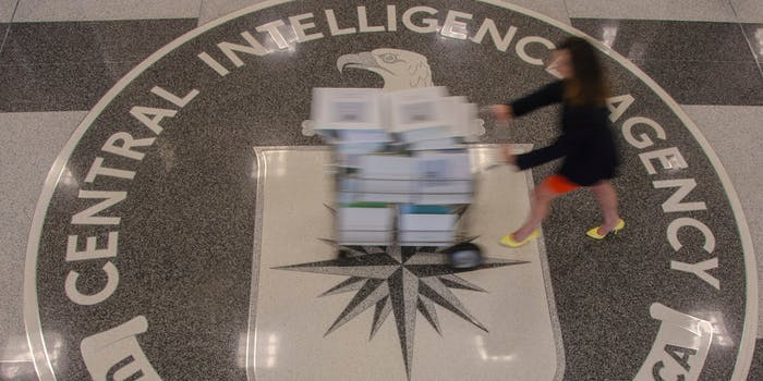 The logo for the central intelligence agency
