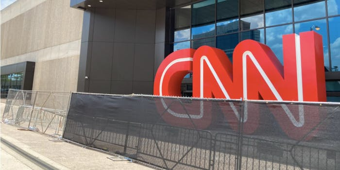 cnn wall around atlanta headquarters