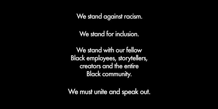 """Disney property statemnent """"We stand against racism. We stand for inclusion. We stand with our fellow Black employees, storytellers, creators and the entire Black community. We must unite and speak out."""""""