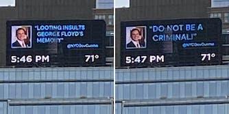 fake cuomo tweets on billboard