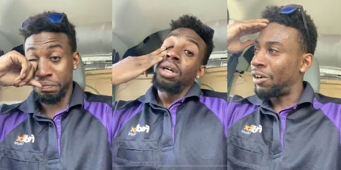 fedex worker spit on, called the N-word