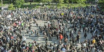 george floyd protest washington square park