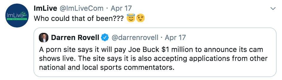 imlive joe buck tweet
