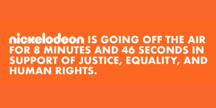 A message from Nickelodeon on human rights