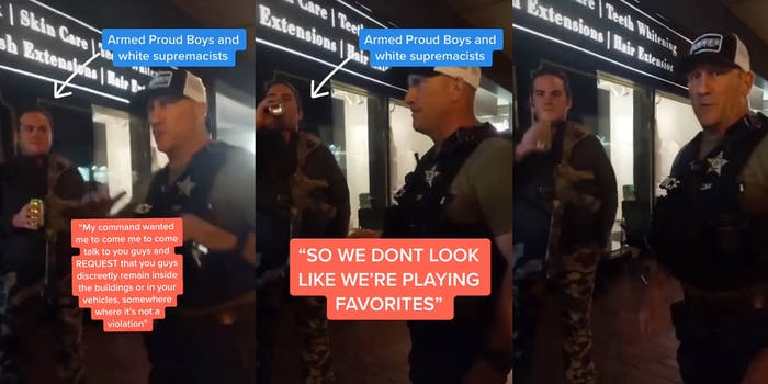 police give warning to proud boys