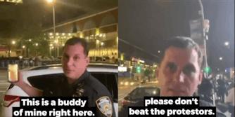 cop facetimes kid protester
