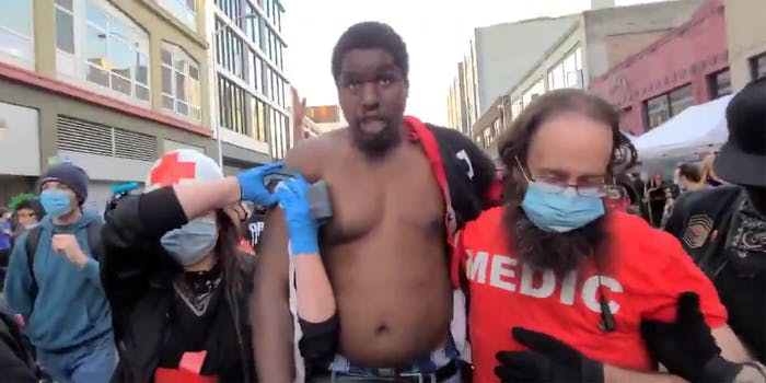 man shot at seattle protest