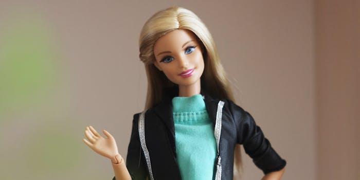 Barbie doll waving