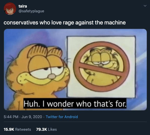 Rage Against the Machine conservatives