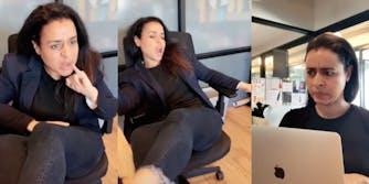Sarah Cooper in how to empty seat TikTok