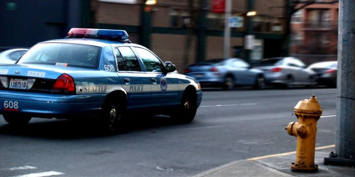 A Seattle Police Department vehicle