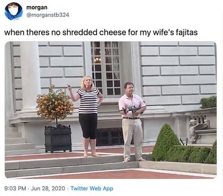 shredded cheese meme protesters